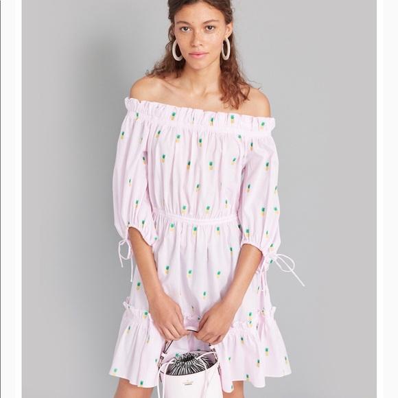 Kate Spade pineapple off the shoulder dress*SOLD